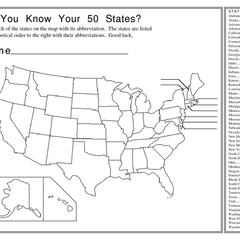 Us State Map Test Quiz Printable Ip0Fwl Save - Us Map Test Printable