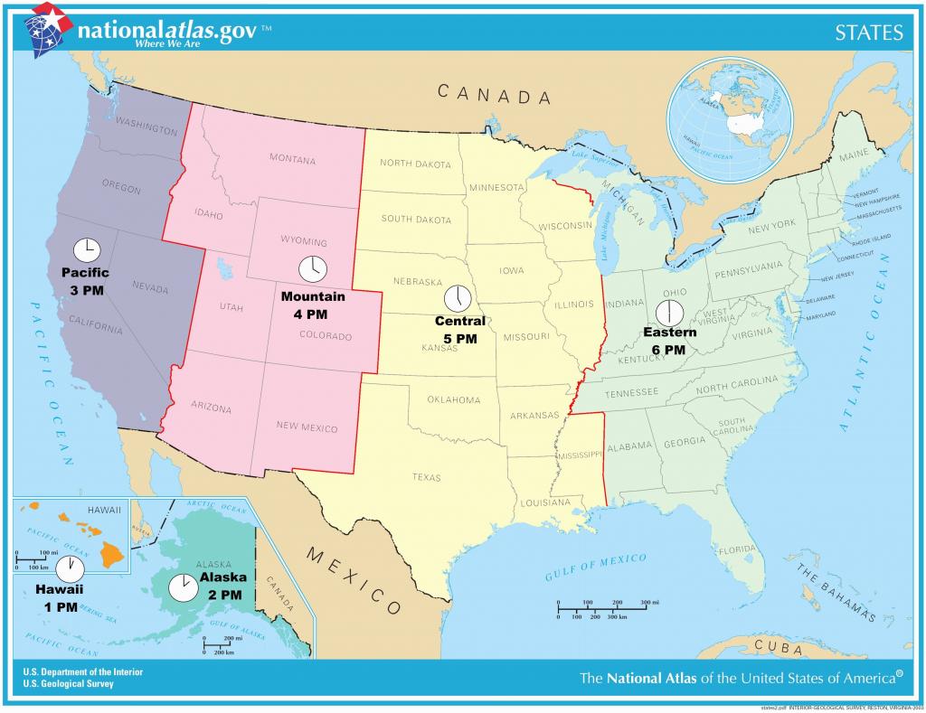 Us Timezone Map With States Timezonemap Beautiful Time Zone Maps - Us Time Zones Map With States Printable