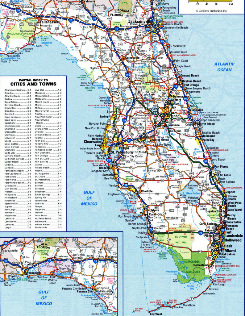 Us West Coast Counties Map Florida Road Map New Detailed Map Florida - Map Of West Coast Of Florida Usa