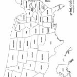 Usa Coloring Page   Labeled With States Names   From Print Color Fun   United States Color Map Printable