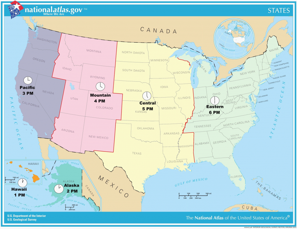 Usa Full Size Map - Hepsimaharet - Printable Time Zone Map Usa With States