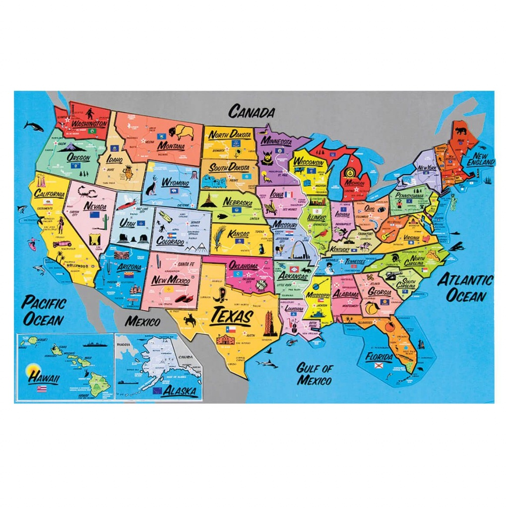 Usa Magnetic Puzzle Map In 2019 | Home | Map Puzzle, Map, World Map - California Map Puzzle