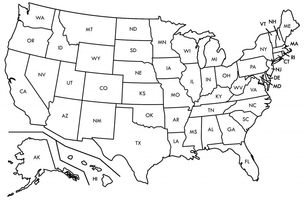 Usa Map Printable - Capitalsource - Blank Us State Map Printable