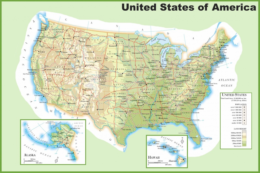 Usa Maps   Maps Of United States Of America (Usa, U.s.) - Physical Map Of The United States Printable
