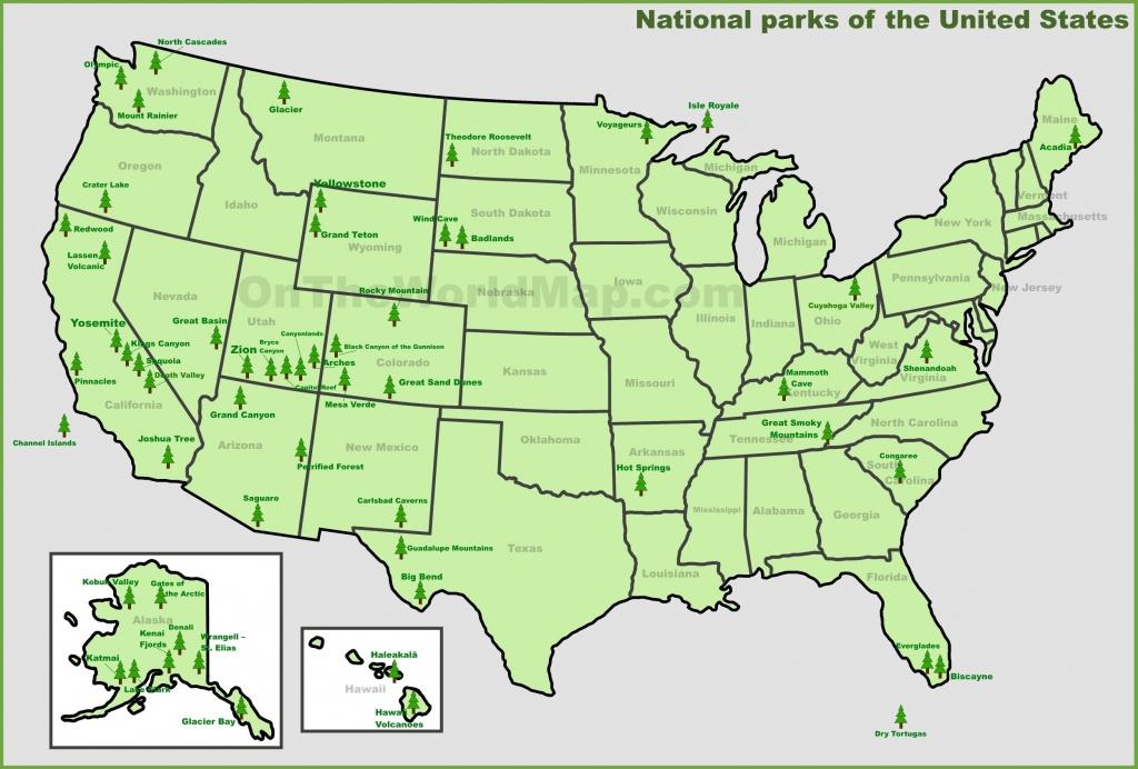 Usa National Parks Map - National Atlas Printable Maps