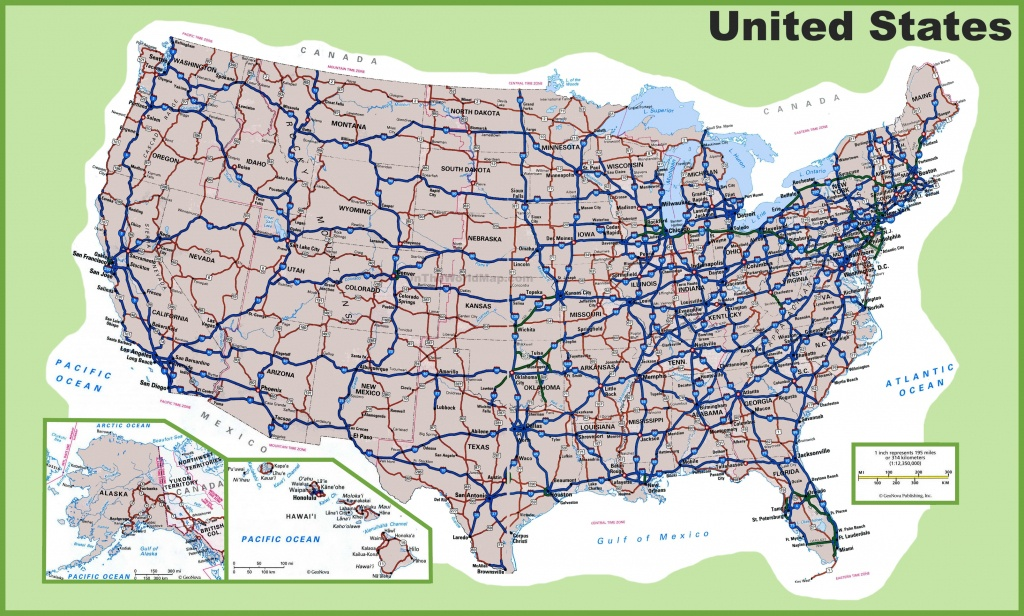 Usa Road Map - Free Printable Road Maps Of The United States
