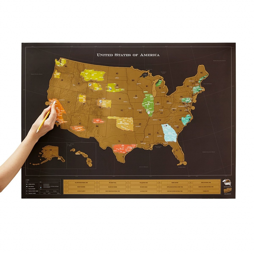 Usa Scratch Map | Interactive Travel Chart | Uncommongoods - Texas Scratch Off Map