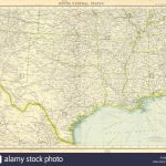 Usa South: Texas Louisiana Oklahoma Arkansas Mississippi Stock Photo   Texas Arkansas Map