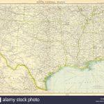 Usa South: Texas Louisiana Oklahoma Arkansas Mississippi Stock Photo   Texas Louisiana Border Map