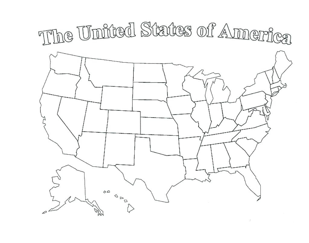 Usa State Map Printable - Blank Printable Usa Map
