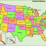 Usa States And Capitals Map   Printable Us Map With States