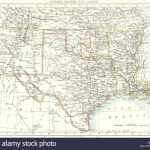 Usa: Sw Central: New Mexico Texas Oklahoma Arkansas Louisiana , 1897   Texas Arkansas Map