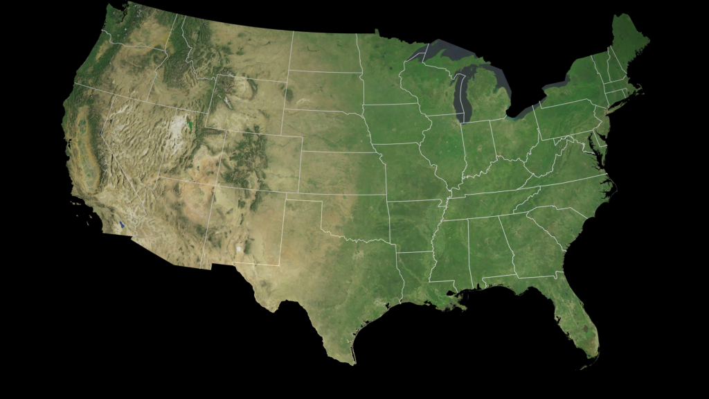 Usa - Texas State (Austin) Extruded On The Satellite Map Of North - Satellite Map Of Texas