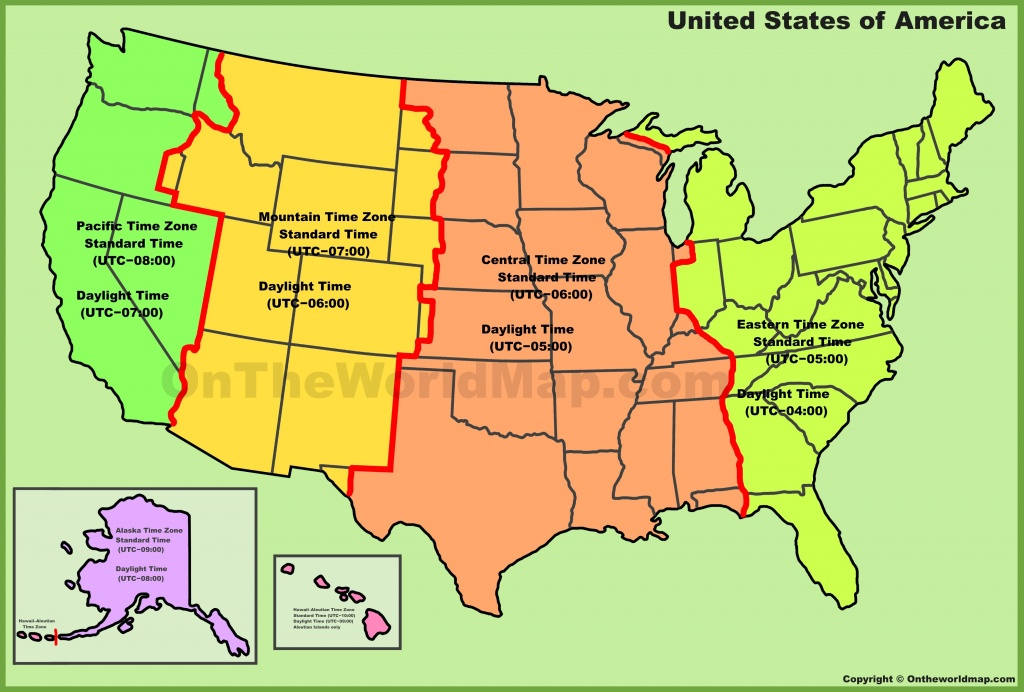 Usa Time Zone Map - Printable Us Time Zone Map
