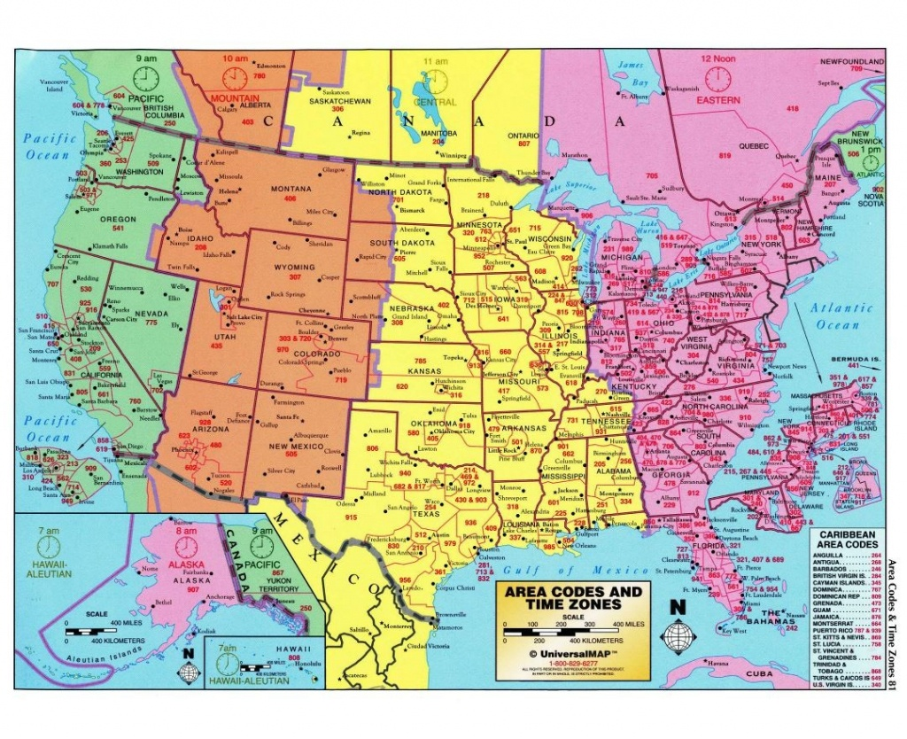 Usa Time Zone Map With States Cities Clock In And World Zones Inside - Printable North America Time Zone Map