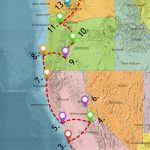 Usa West Coast Road Trip Guide (July 2019)   California Coast Map Road Trip