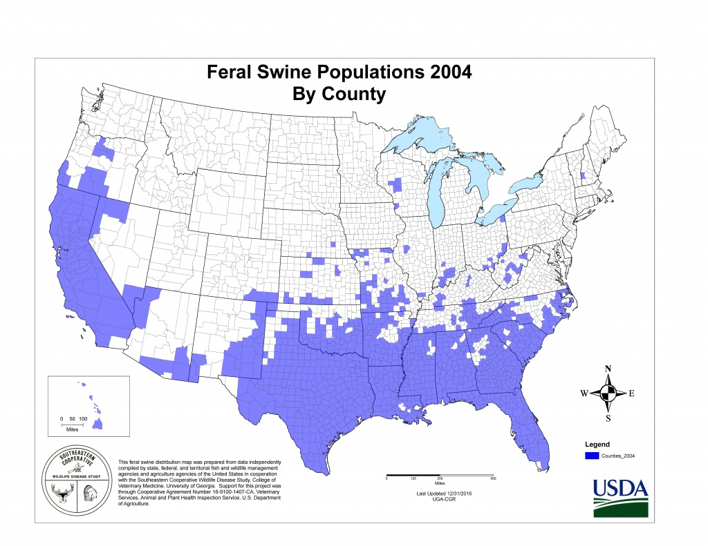 Usda Aphis   History Of Feral Swine In The Americas - Florida Wild Hog Population Map