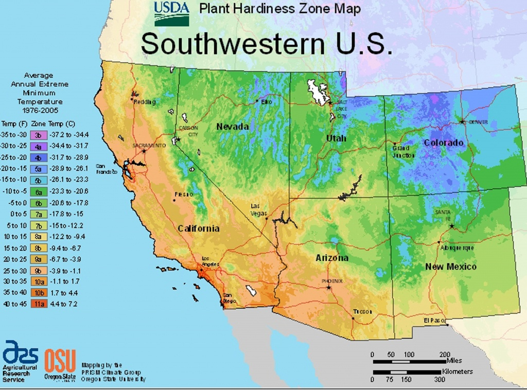 Usda Plant Hardiness Zone Mapsregion - California Heat Zone Map