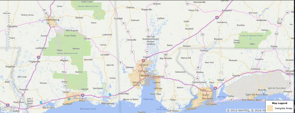 Usda Rural Development Loan - Mobile, Al - Usa Home Financing - Usda Loan Eligibility Map Florida