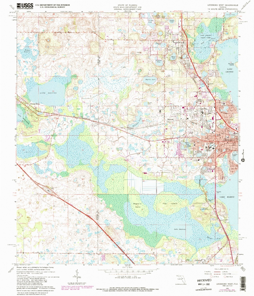 Usgs 1:24000-Scale Quadrangle For Leesburg West, Fl 1966 - Leesburg Florida Map