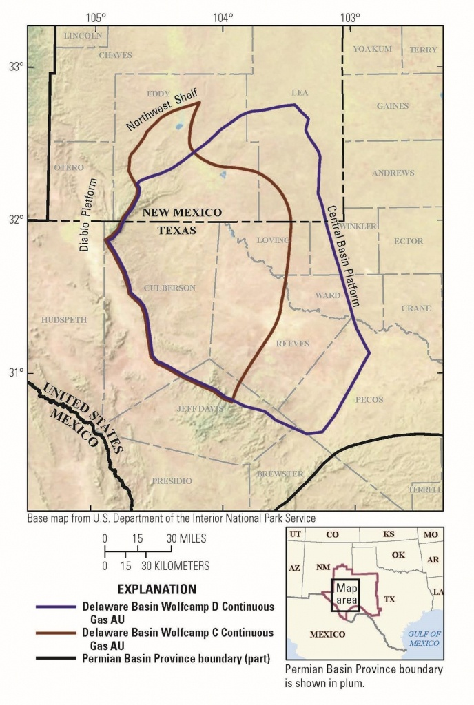 Usgs Announces Largest Continuous Oil Assessment In Texas And New Mexico - Spring Texas Map