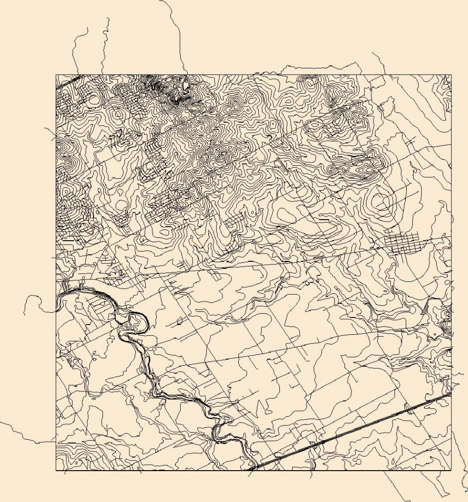 Usgs Combined Vector For Marion, Texas 20160524 7.5 X 7.5 Minute - Marion Texas Map