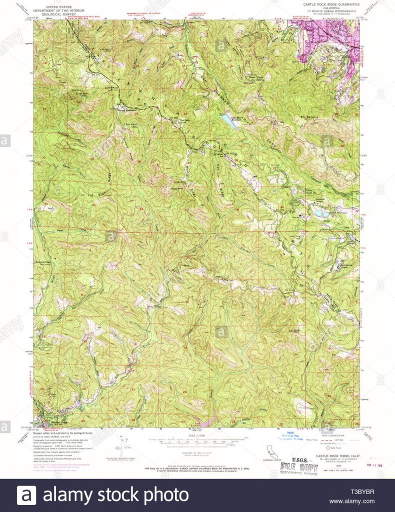 Usgs Topo Map California Ca Castle Rock Ridge 289045 1955 24000 - Usgs Topo Maps California