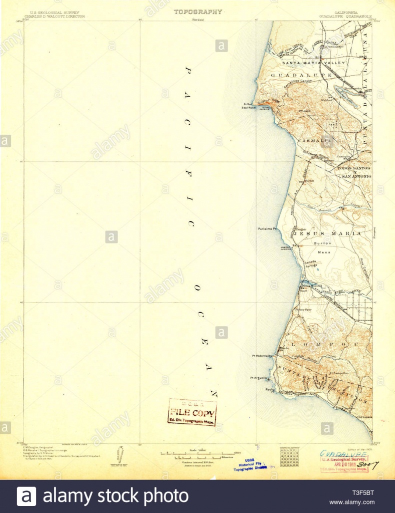 Usgs Topo Map California Ca Guadalupe 299360 1905 125000 Restoration - Guadalupe California Map