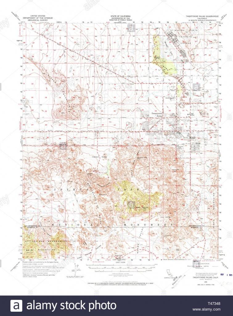 Usgs Topo Map California Ca Twentynine Palms 301895 1955 62500 - 29 Palms California Map