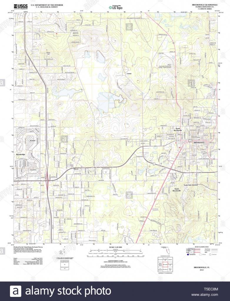 Usgs Topo Map Florida Fl Brooksville 20120720 Tm Restoration Stock - Brooksville Florida Map