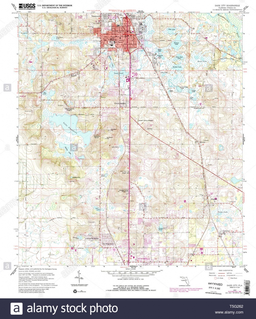 Usgs Topo Map Florida Fl Dade City 345726 1960 24000 Restoration - Map Of Florida Showing Dade City