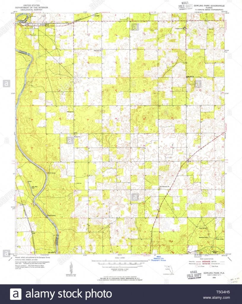 Usgs Topo Map Florida Fl Dowling Park 345877 1954 24000 Restoration - Usgs Topographic Maps Florida