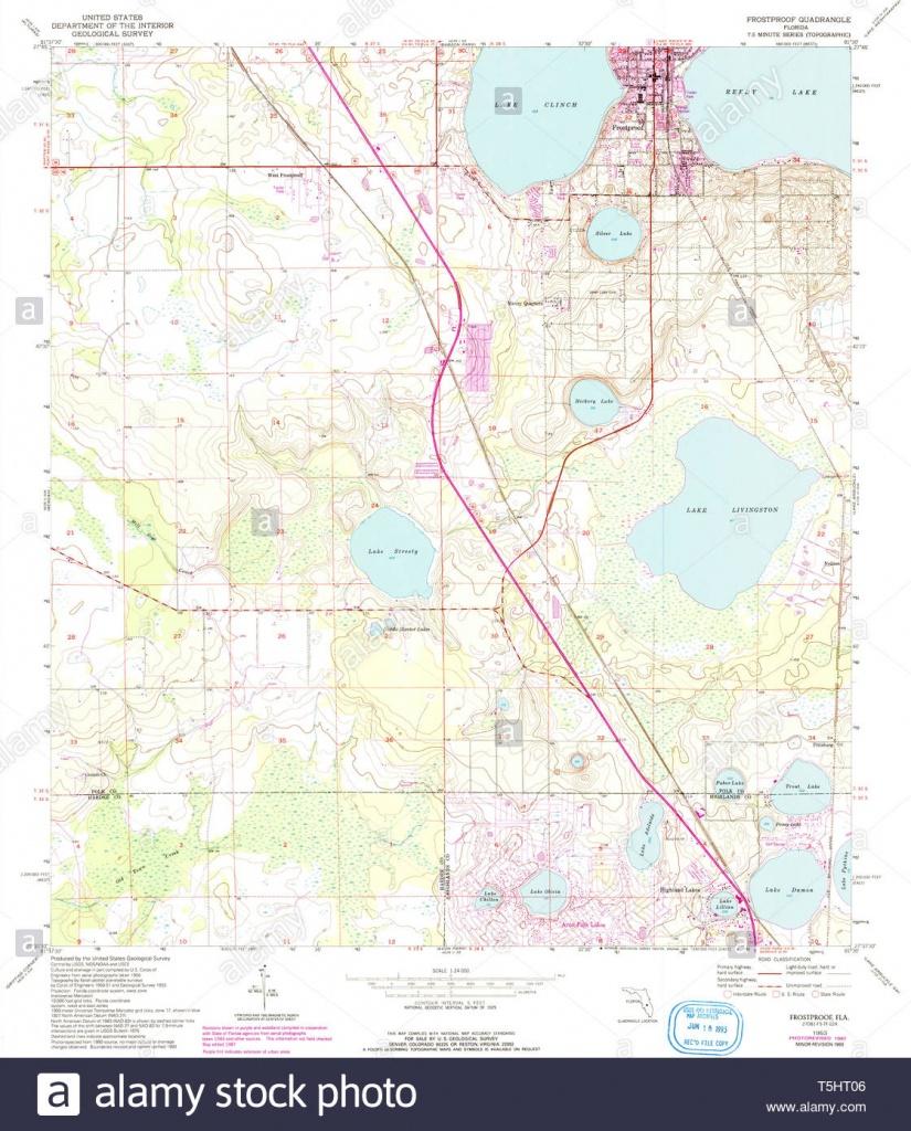 Usgs Topo Map Florida Fl Frostproof 346353 1953 24000 Restoration - Frostproof Florida Map