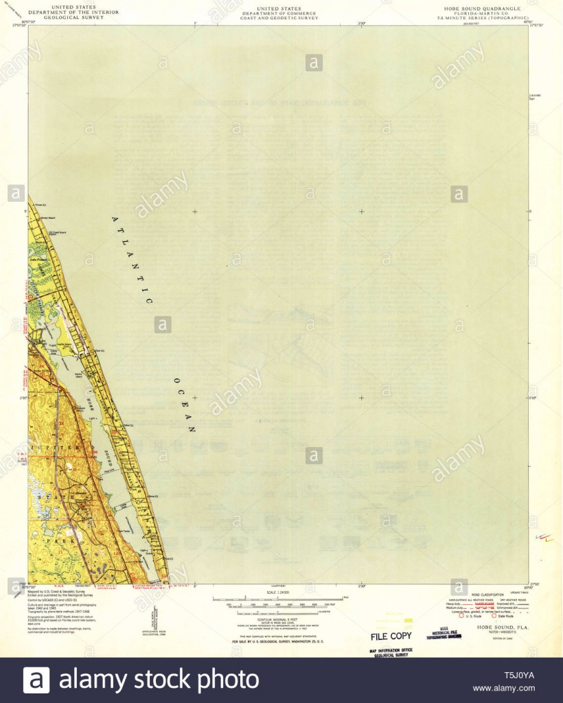 Usgs Topo Map Florida Fl Hobe Sound 346641 1949 24000 Restoration - Hobe Sound Florida Map