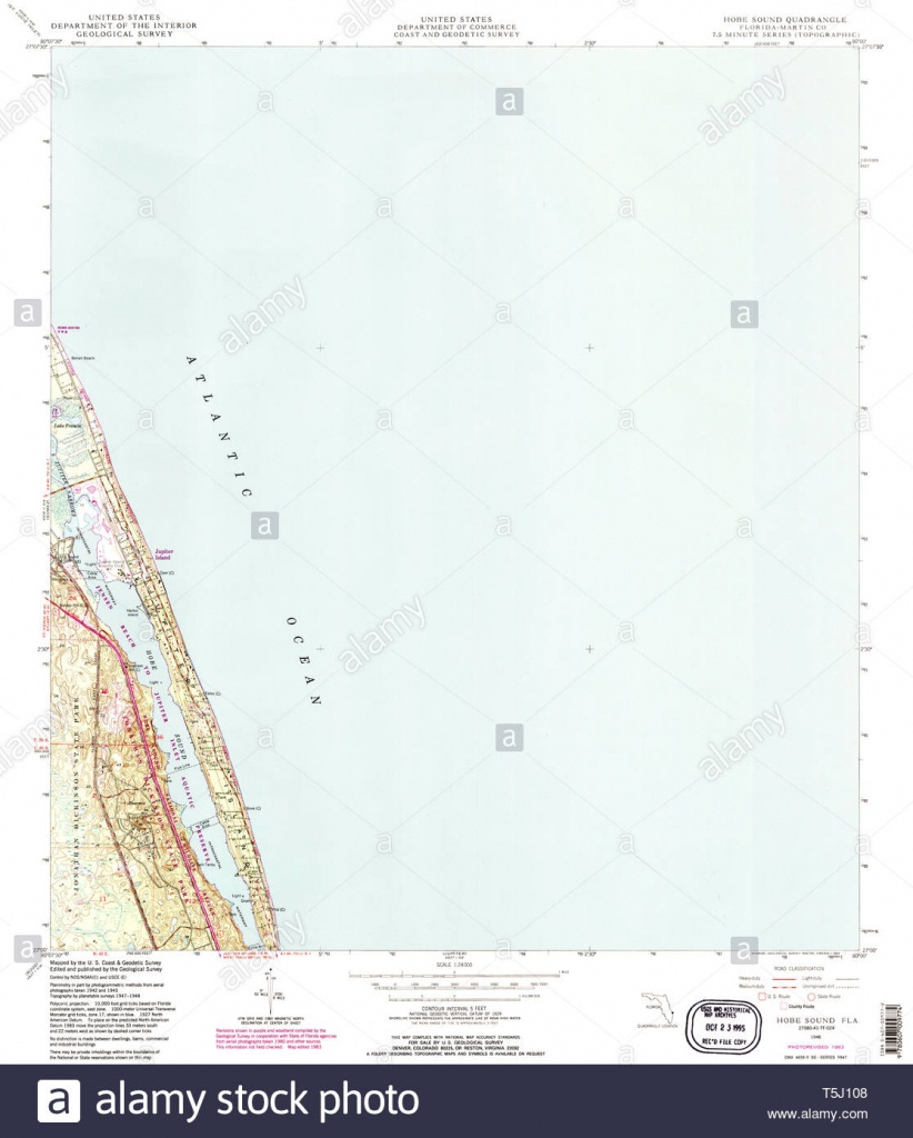 Usgs Topo Map Florida Fl Hobe Sound 346644 1948 24000 Restoration - Hobe Sound Florida Map