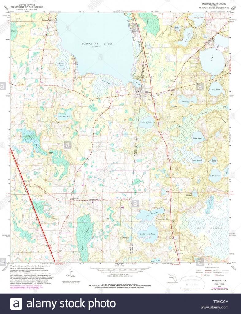 Usgs Topo Map Florida Fl Melrose 347452 1966 24000 Restoration Stock - Usgs Topographic Maps Florida