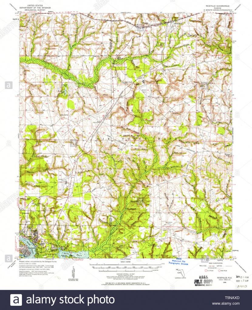 Usgs Topo Map Florida Fl Niceville 347671 1956 62500 Restoration - Niceville Florida Map