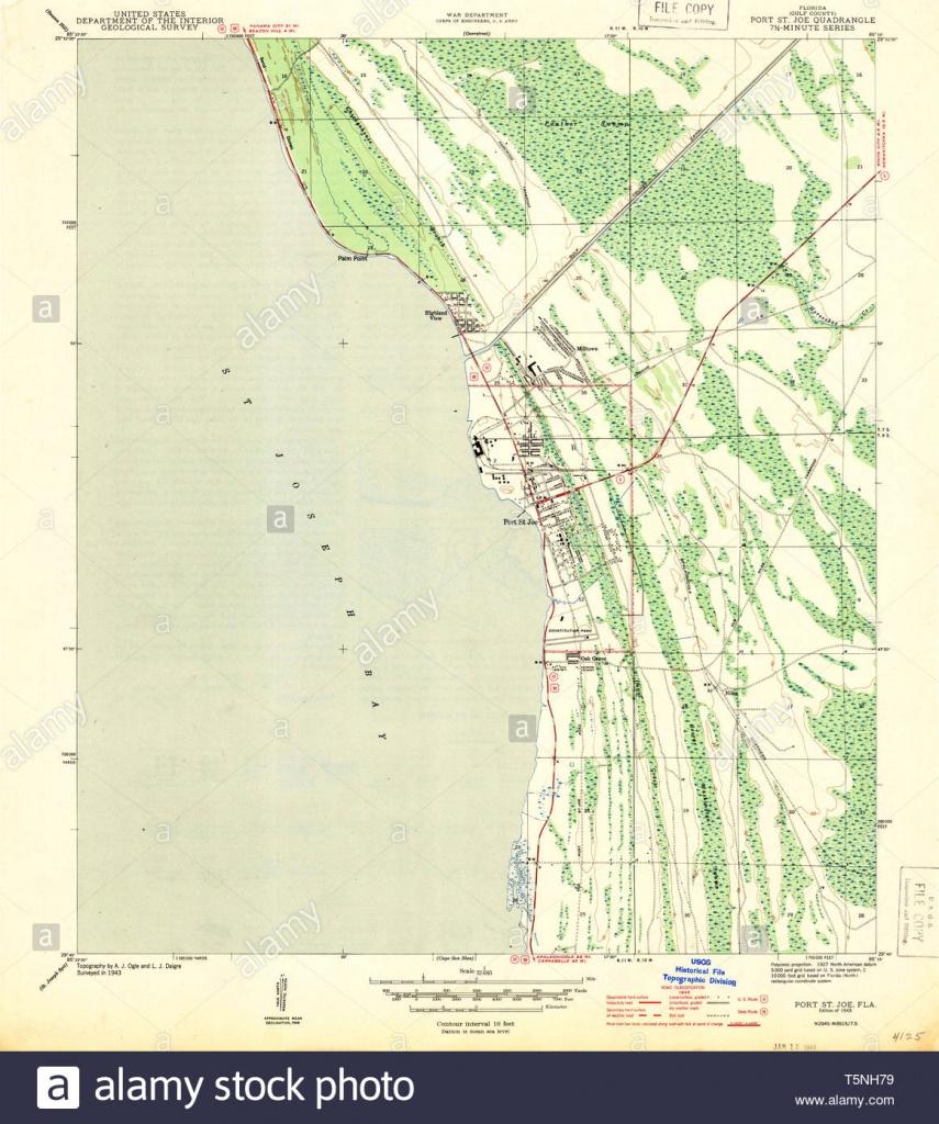 Usgs Topo Map Florida Fl Port St Joe 348209 1943 31680 Restoration - Port St Joe Florida Map