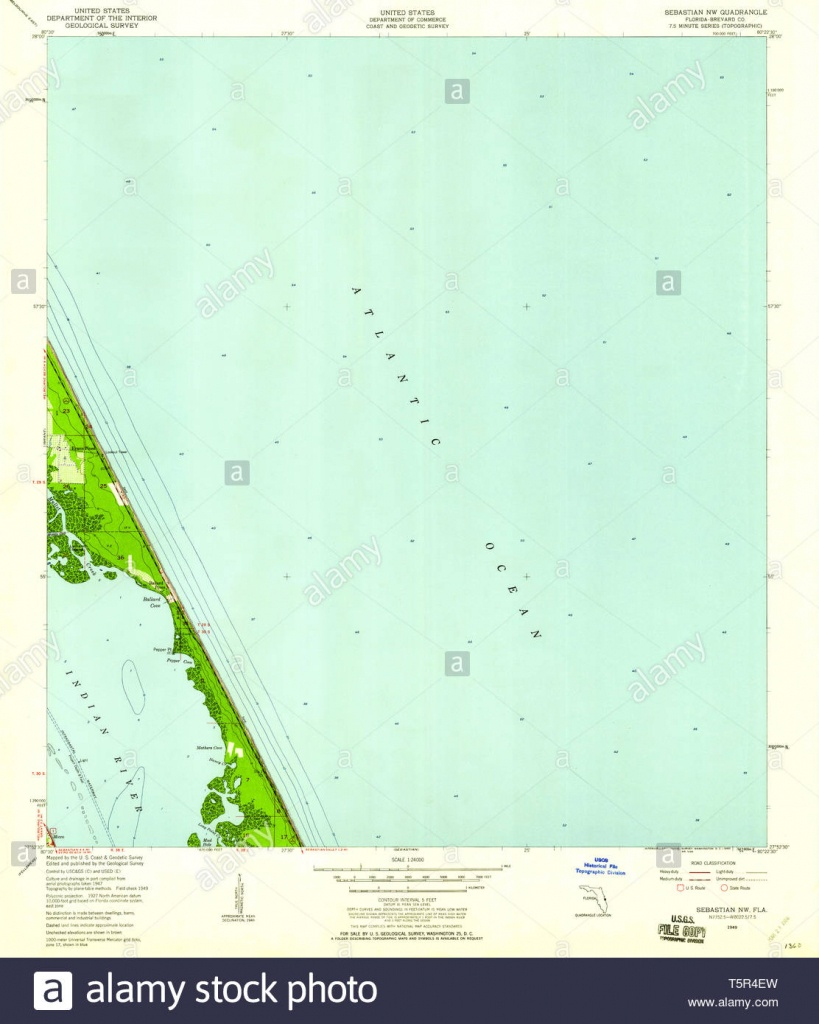 Usgs Topo Map Florida Fl Sebastian Nw 348471 1949 24000 Restoration - Sebastian Florida Map