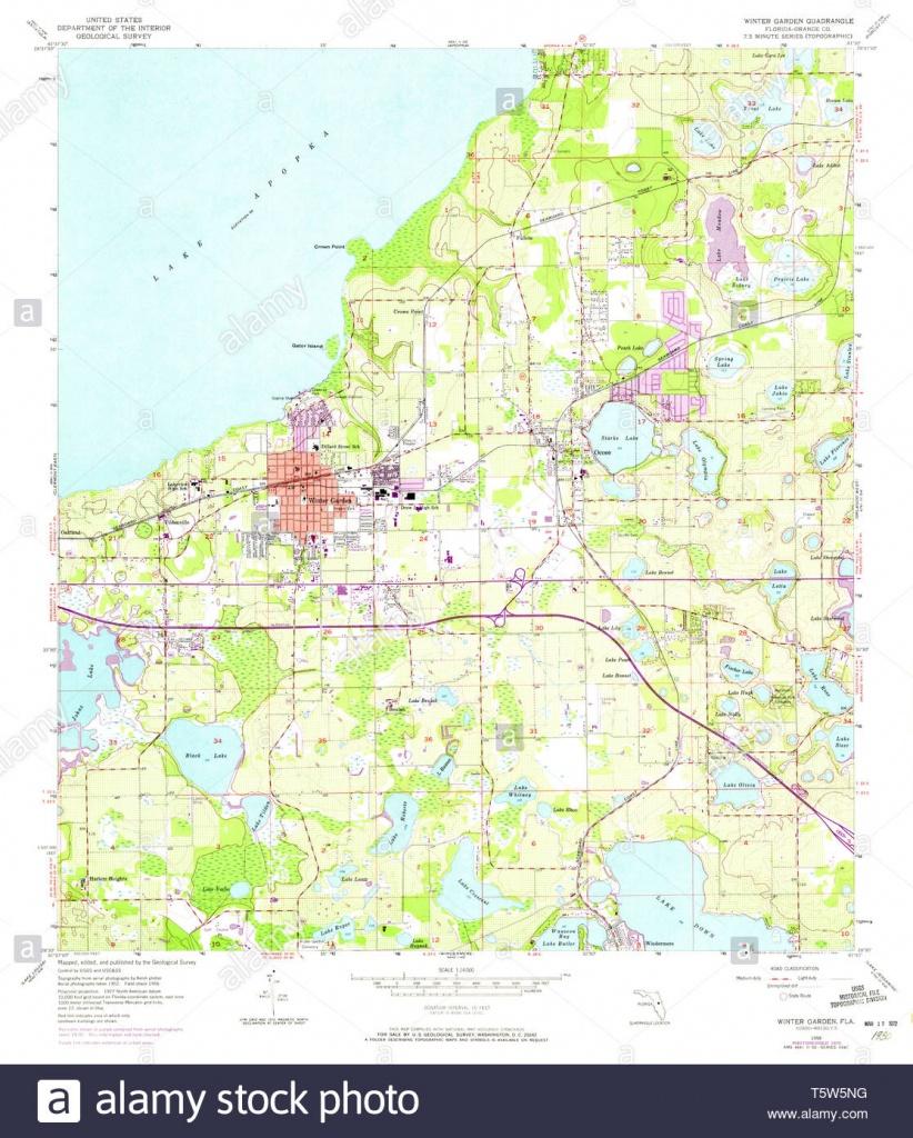 Usgs Topo Map Florida Fl Winter Garden 349143 1956 24000 Restoration - Winter Garden Florida Map