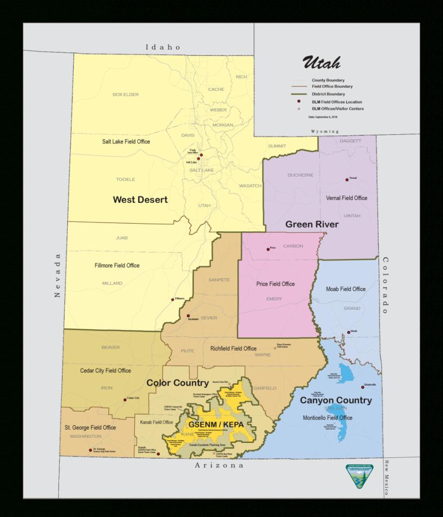 Utah - Maps | Bureau Of Land Management - Blm Shooting Map Southern California