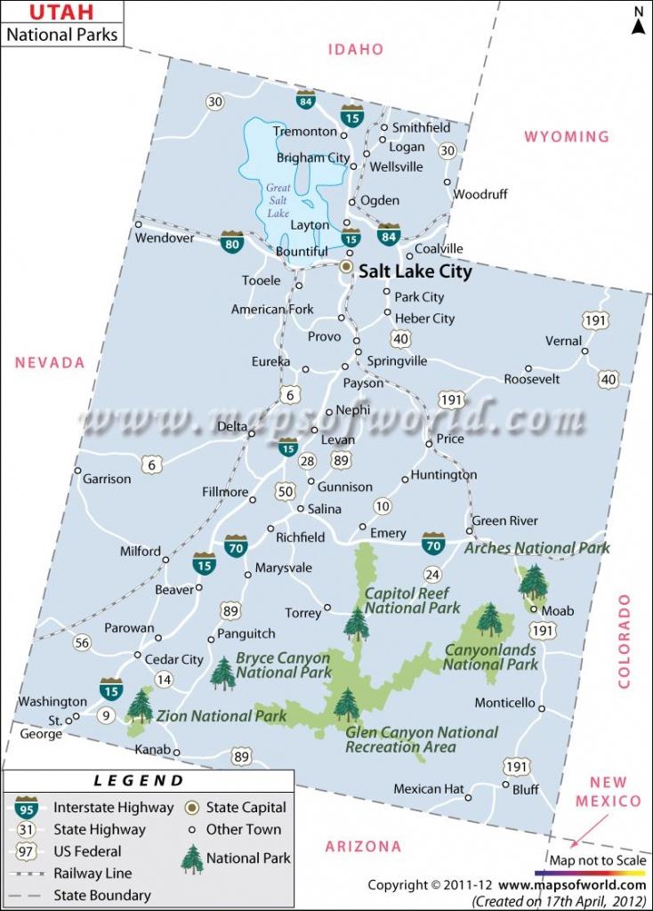 Utah National Parks Map. Husband And Myself On Trip To Capital Reef - Printable Map Of Utah National Parks