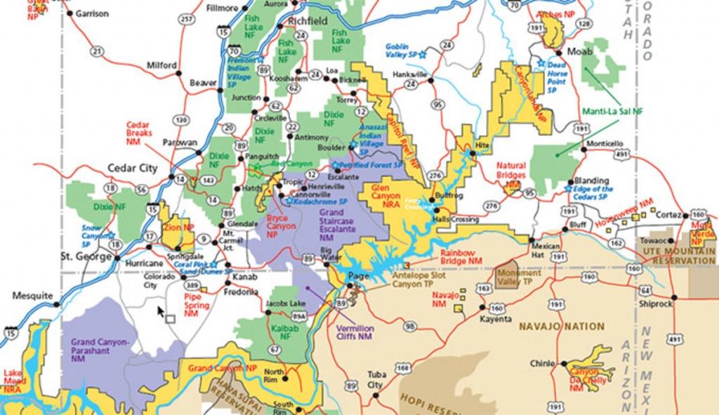 Utah Parks Area Map Pdf - My Utah Parks - Utah Road Map Printable