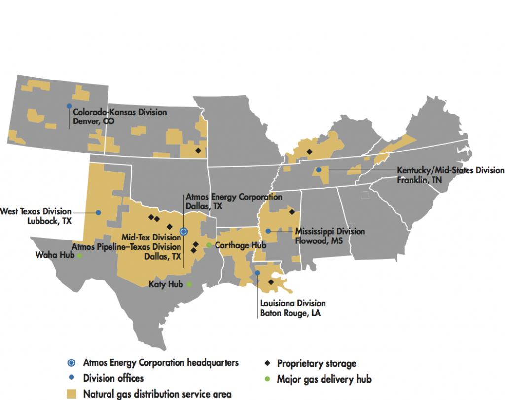 Utility Operations | Atmos Energy - Texas Utility Map