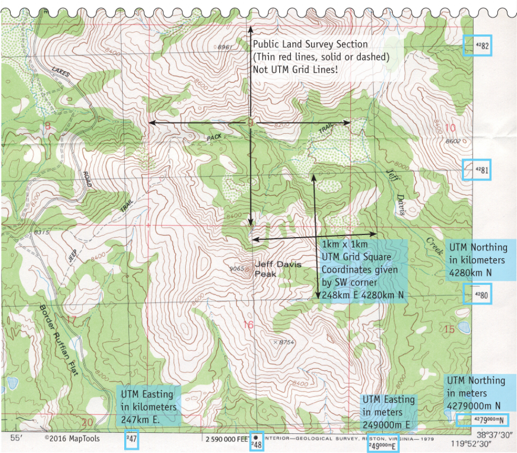 Utm Coordinates On Usgs Topographic Maps - Printable Usgs Maps