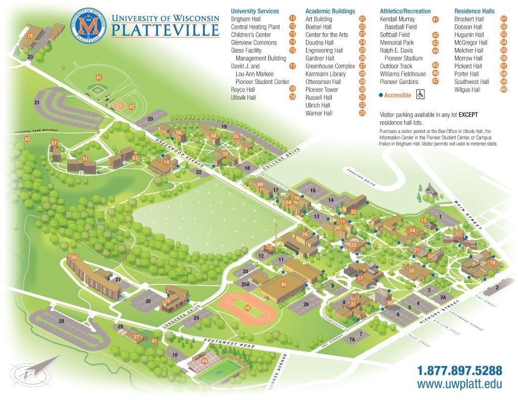 Uw-Platteville Campus Map | Campus Life | Campus Map, College - Printable Uw Madison Campus Map