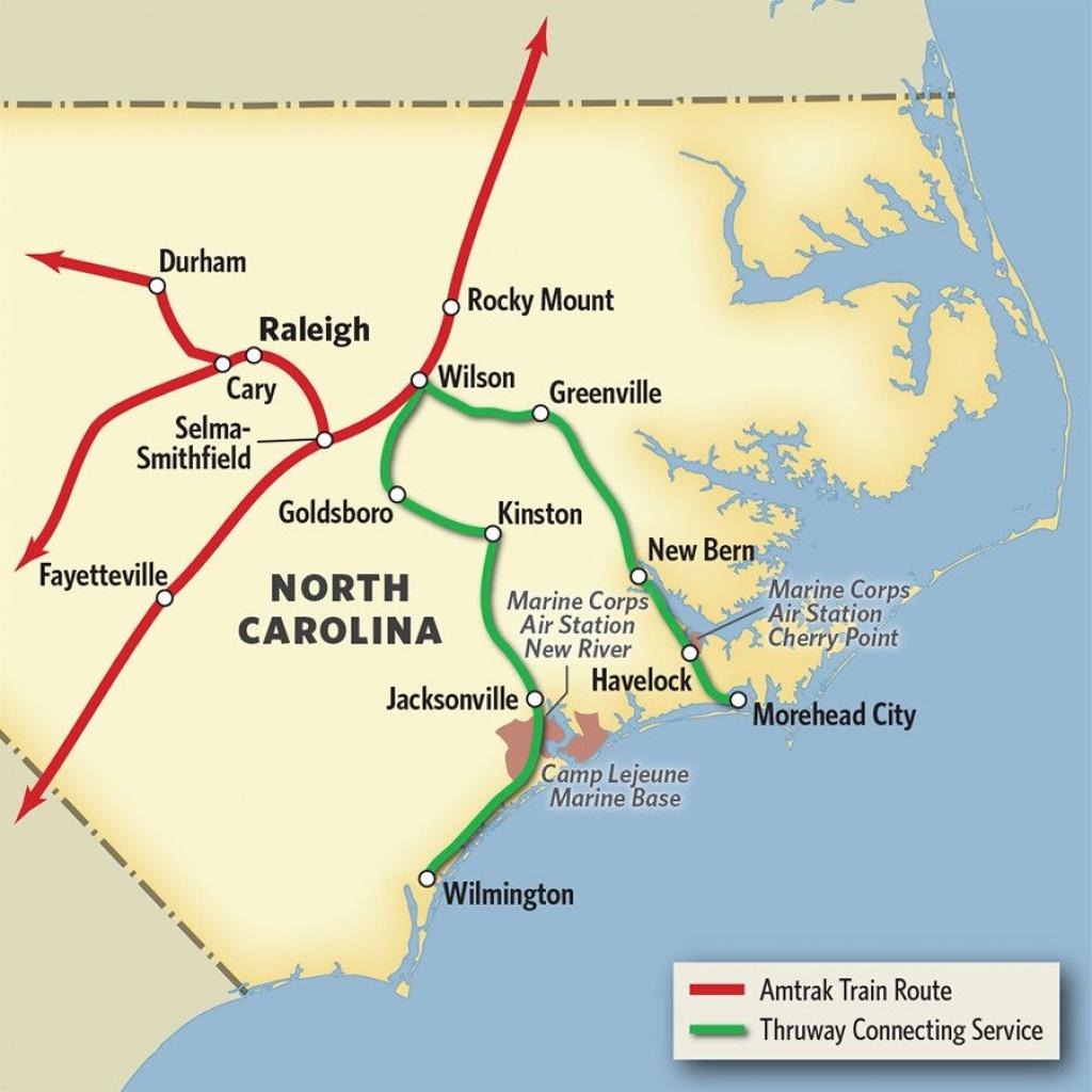 Vacations In North Carolinatrain & Thruway Bus   Amtrak - Amtrak Station Map Florida
