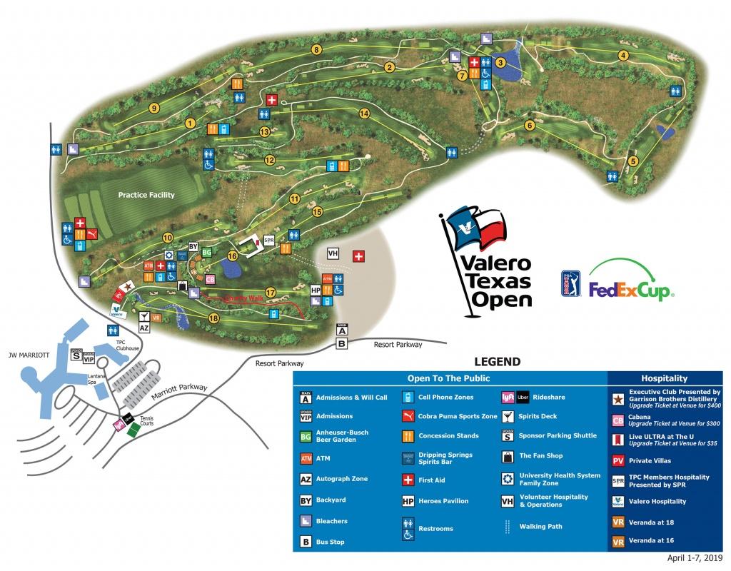 Valero Texas Open - Tournament Course Map - Texas Golf Courses Map
