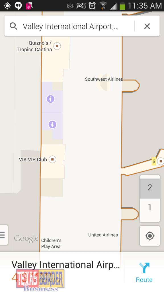 Valley International Airport Adopts Innovative Indoor Google Maps - Google Maps Harlingen Texas