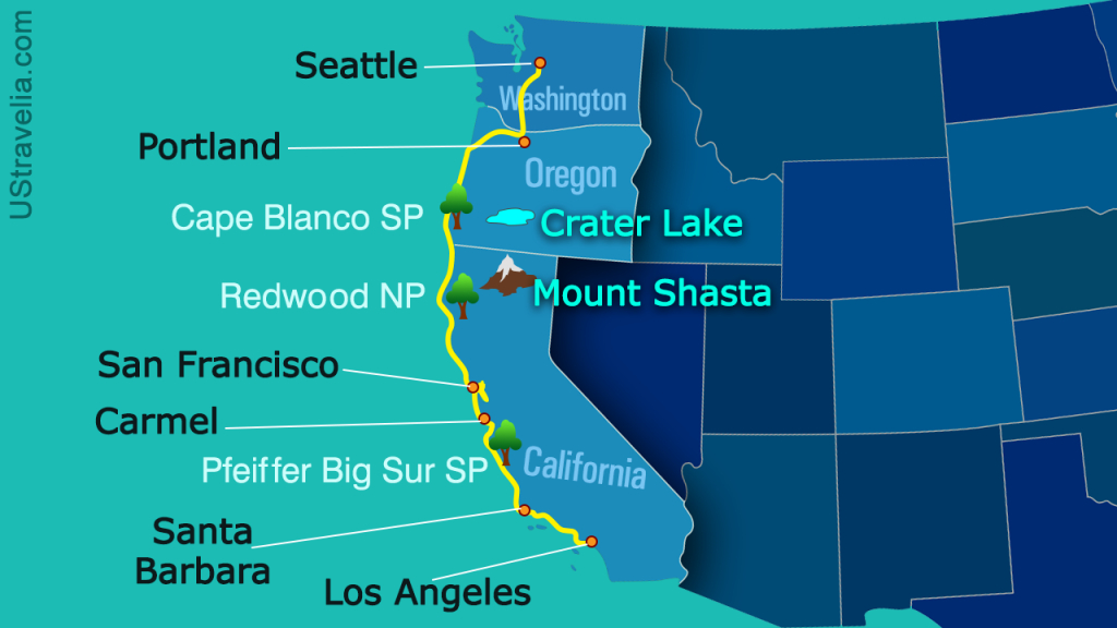 Valuable Tips For Planning A Drive From Seattle To Los Angeles - Seattle To California Road Trip Map